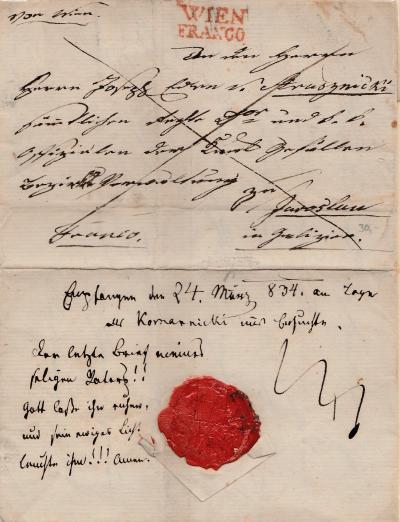 Überdies und außerdem - handschriftliche Vermerke auf Briefen